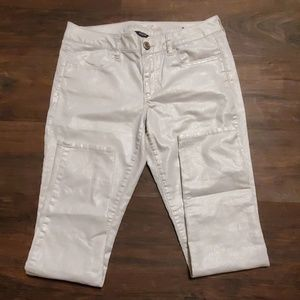 American Eagle Jeans White Shimmer